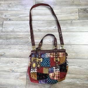 Fossil Long Live Vintage Patchwork Bag with Crossbody Strap